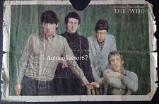 THE WHO AUTOGRAPHS signed Roger Daltrey Pete Townshend John Entwistle Viv Prince