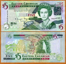 Eastern East Caribbean, $5, 2008, Pick 47, UNC