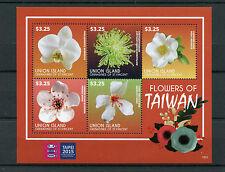 Union Island Grenadines St Vincent 2015 MNH Flowers of Taiwan 5v M/S Taipei Exhb