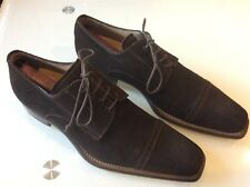 STEFANO BRANCHINI MENS BROWN SUEDE OXFORDS SIZE 9.5 US $295.00