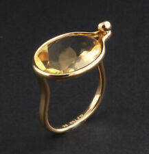 Georg Jensen Gold Ring with Citrine # 1506, 18 Carat. Savannah. V. Torun.