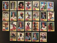 1981 Topps ST LOUIS CARDINALS Complete Set KEITH HERNANDEZ Ted SIMMONS Templeton