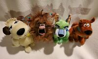 """SCOOB! Scooby-Doo Movie 8"""" Plush Set OF 4 Muttley Captain Cave Man Dynomutt NWT"""