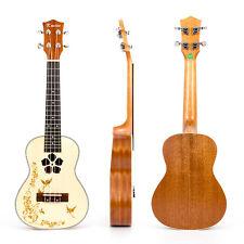 Kmise Professional Concert Ukulele Hawaii Guitar Spruce Mahogany 18Fret 23 Inch