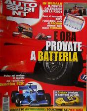 Autosprint 6 2001 Poster Calendario con la F2001. Benetton B201. Chevrolet