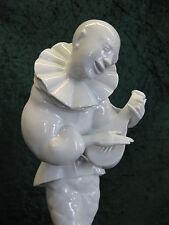 Schwarzburg Mauritius Pfeiffer Pierrot ART DECO 34 cm FIGURINE White Porcelain