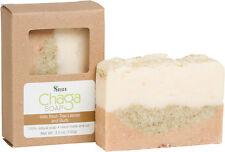 Chaga Mushroom Natural Hand Made Bath Soap Bar with Birch Tree Leaves and Buds