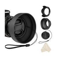 55mm Lens Hood Set for Nikon D3400 D3500 D5500 D5600 D7500 DSLR Camera with A...