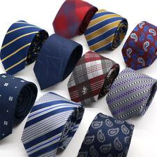 Lo último Para hombres Corbata 6CM a Rayas Corbata Delgada De Cuello Estrecho Ajustado Floral para Boda