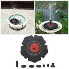 Solar Panel Powered Submersible Floating Fountain Garden Pump Pool Pond Black