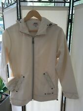 Musto Ladies Ivory Asymmetric Hooded Lightweight  Jacket Cotton, Size 10
