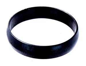 Ring schlicht schwarz Edelstahl abgerundet 4 mm Fingerring