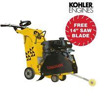 "18"" 14 HP Kohler Walk Behind Concrete Saw Concrete Cutter Asphalt Cutting"