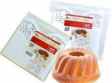 Cake Top White Round 30 cm, 12 Pieces/Pack Food Paper Decoration Lace