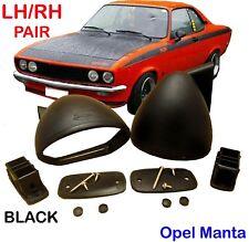 Opel Manta 70 71 72-75 Opel Manta A TE 2800 GT/E S 1900 Rally Black Mirrors Pair