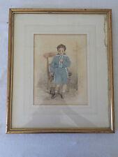 Waller Hugh PATON (1828-1895) - Aquarelle Gouache/Papier - Portrait 1892
