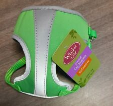 NEW Whisker City Comfort Small Reflective Green Cat Harness 13-16 inches