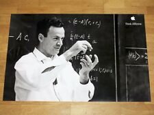 Apple think different affiche-richard Feynman 24 x 36 by steve Jobs 61 x 91 CM