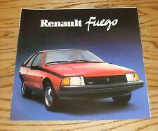 Original 1984 Renault Fuego Sales Brochure 84