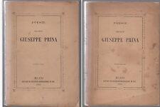 POESIE DELL'ABATE GIUSEPPE PRINA VOLUME I E II, MILANO 1865 -L3760