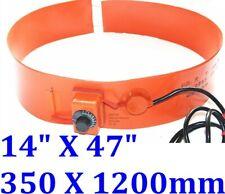 """14"""" X 47"""" 350 X 1200mm 2500W Tank Drum Band CE UL Heater w/ knob Barrel"""