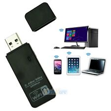 Dual Band 2.4Ghz 5Ghz Wireless N USB Adapter Dongle 802.11 a/b/g/n Wi-Fi 300Mbps
