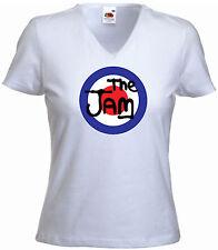 Mod Ladies Fitted V-Neck Tee, The Jam, GB Target, Mods, V-Neck T-shirt