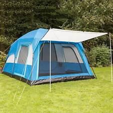 skandika Tonsberg 5  Tente familiale Camping 5 Pers. 420x300cm Bleu NEUVE