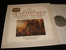 BACH°OVERTURES NO.1&4<>KARL RICHTER<>Lp Vinyl~German  Pressing~ARCHIV 198 273