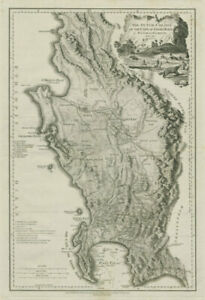 The Dutch colony of the Cape of Good Hope. South Africa Cape Town FADEN 1795 map