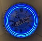 """Blue Moon 20"""" Double Neon Quartz Clock Excellent Condition"""