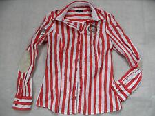 L´ARGENTINA schöne rot weiß gestreifte Bluse Gr. 38 TOP BI618