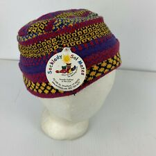 New w Tag Socklady Sol Mates Fez M L Made in Vermont Cotton Blend Cap Beanie