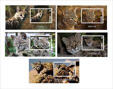 Wild Cats part2 Cat 10 Souvenir Sheets Mnh Unperforated