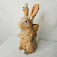 Vintage Paper Mache Rabbit Candy Container Easter FN Burt Co Buffalo NY 1929
