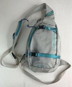 PATAGONIA ATOM 8L Cross Body Sling Bag Multi Pocket Gray Turquoise HIKING Unisex