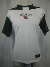 Men's Nascar White Poly SS Dale Jr. 88 Casual Shirt size Med
