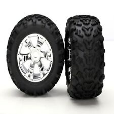 Traxxas 5674 Maxx Tires On Geode Wheels (2) Summit E-Maxx E-Revo