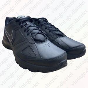 Nike T Lite XI Trainers Size UK 10.5 EU 45.5 Black Leather 616544-007 2013