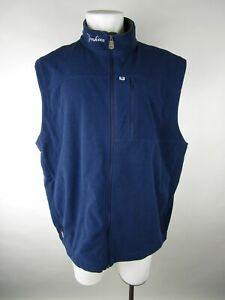 Majestic Mens Blue New York Yankees Therma Base Full Zip Fleece Vest Jacket 2XL