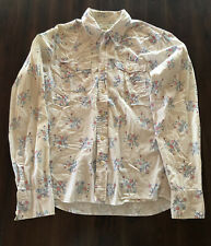 Hollister Vintage 100% Cotton Mens Shirt Floral Size Small