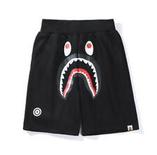 Men's Bape Shark Jaw Icon A Bathing APE Loose Print Pants Black Beach Shorts