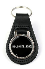 Triumph Dolomite 1500 Logo Quality Black Leather Keyring
