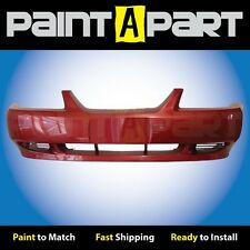 2002 2003 2004 Ford Mustang (Base) Front Bumper Painted E9 Laser Red Metallic