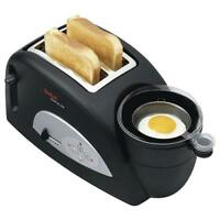 Tefal TT550015 Toast N Egg Two Slice Toaster and Poached Egg Maker, 1200W- New