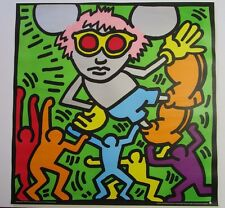 LARGE KEITH HARING SCREENPRINT GERMAN EDITION ANDY MOUSE NEUES PUBLISHING 38 ""