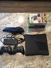 MICROSOFT Xbox 360 4GB Black Console With 2 Controllers Kinect 15 Games