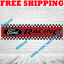 Ford Racing Red 2x8 ft Banner Car Racing Show Garage Wall Decor Sign Gift 2019