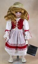 Vintage Heritage Mint Heidi Porcelain Doll Red Hair Brown Eyes 15.5 Inch 1989