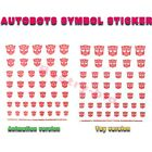 Transfors Autobots Symbol Sticking Decal Clear Fits Bumblebee Optimus Prime Toy